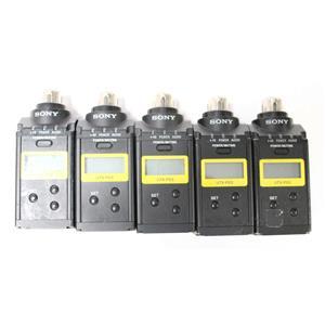 Lot of 5 Sony UTX-P03 UHF Wireless Plug-On Transmitters 638.125-697.875 MHz