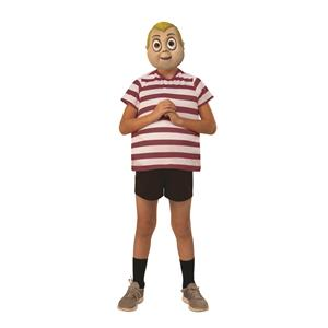 Pugsley The Addams Family Red and White Shirt Child Costume Large