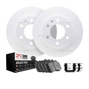 Front DFC GEOSPEC Brake Rotors 5000 Advanced Brake Pads  Hardware Ford Escape
