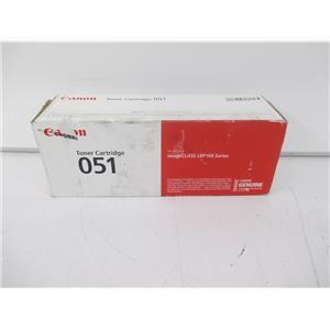 Canon 2168C001 Canon 051 Black Toner Cartridge f/imageCLASS LBP160 Series-SEALED