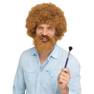 Groovin Guy American Painter Brown Afro Style Wig