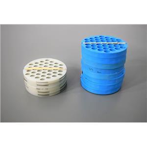 Beckman (8) 339175 Tube Adapters Discs (5)343108 Spacer Discs 37x5mL w/Warranty