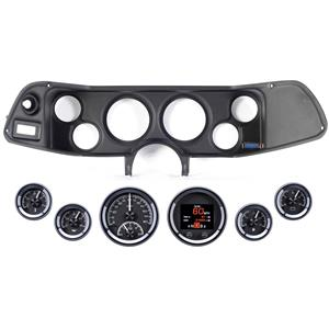 70-78 Camaro Black Dash Carrier Panel Dakota Digital Black HDX Universal Gauges