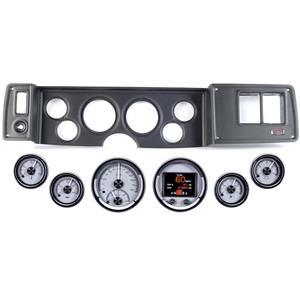 79-81 Camaro Black Dash Carrier Panel Dakota Digital Silver HDX Universal Gauges