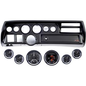 70-72 Chevelle Sweep Black Dash Carrier Dakota Digital Black HDX Universal Gauge