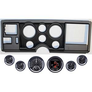 88-94 GM Truck Black Dash Carrier Panel Dakota Digital Black HDX Universal Gauge