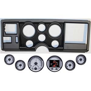 88-94 GM Truck Black Dash Carrier Panel Dakota Digital Silver HDX Universa Gauge