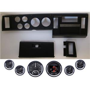 82-86 S10 Pickup Black Dash Carrier w/ Dakota Digital Black HDX Universal Gauges