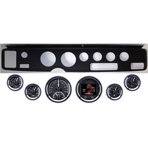 70-81 Firebird Black Dash Carrier Panel Dakota Digital Black HDX Universal Gauge