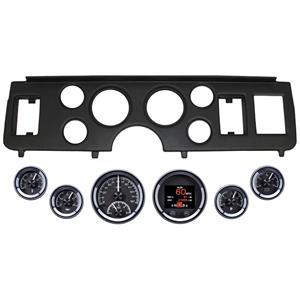 79-86 Mustang Black Dash Carrier Panel Dakota Digital Black HDX Universal Gauges