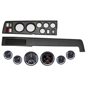 68-70 Mopar B Body Black Dash Carrier Dakota Digital Black HDX Universal Gauges