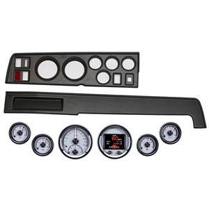 68-70 Mopar B Body Black Dash Carrier Dakota Digital Silver HDX Universal Gauges
