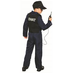 Police Swat Navy Blue Jumpsuit Costume Medium 8-10