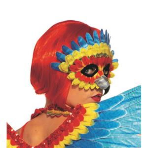 Parrot Rainbow Screen Print Bird Mask