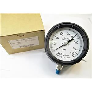 "Reotemp PT45P1A4P19DT 160 PSI Industrial Process Pressure Gauge 4 1/2"" Face New"
