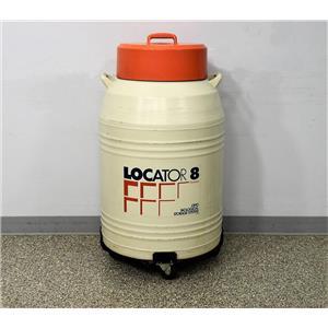 Thermolyne Locator 8 Cryo Biological Storage Tank Dewar LN2 w/ 90-Day Warranty
