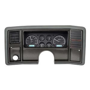 Dakota Digital 78 -88 Chevy Monte Carlo Analog Dash Gauge System Black Alloy WHT