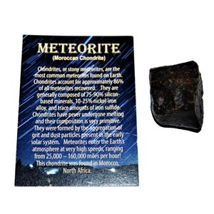 MOROCCAN Stony METEORITE Chondrite Genuine 70.7 grams w/color card #14637 6o