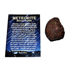 MOROCCAN Stony METEORITE Chondrite Genuine 96.1 grams w/color card #14639 6o