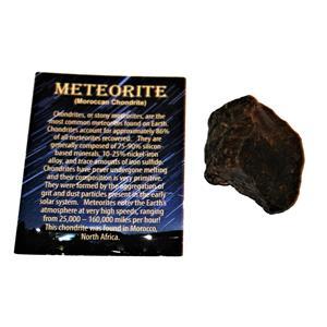 MOROCCAN Stony METEORITE Chondrite Genuine 86.2 grams w/color card #14648 6o