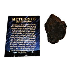 MOROCCAN Stony METEORITE Chondrite Genuine 119.6 grams w/color card #14651 7o