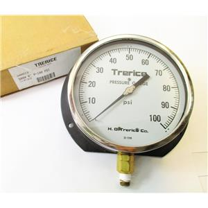"Trerice D00513 500X 6"" 0-100PSi Pressure Gauge 1/4"" NPT Bottom New"