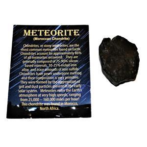 MOROCCAN Stony METEORITE Chondrite Genuine 53.6 grams w/color card #14655 5o