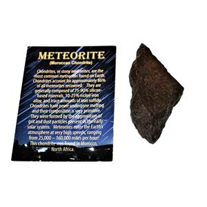 MOROCCAN Stony METEORITE Chondrite Genuine 73.6 grams w/color card #14657 6o