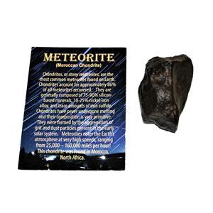 MOROCCAN Stony METEORITE Chondrite Genuine 88.5 grams w/color card #14658 6o