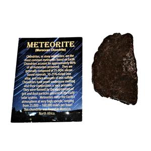 MOROCCAN Stony METEORITE Chondrite Genuine 177.9 grams w/color card #14658 9o