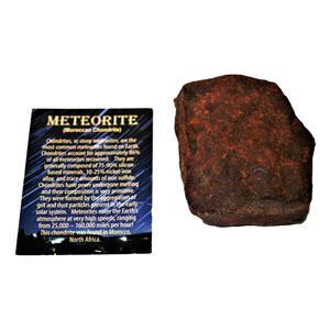 MOROCCAN Stony METEORITE Chondrite Genuine 532.9 grams w/color card #14664 21o