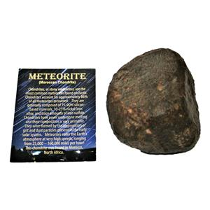 MOROCCAN Stony METEORITE Chondrite Genuine 708.0 grams w/color card #14666 28o