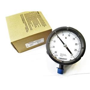 "Ashcroft 45-1279-SS-04L-30IMV&30# Pressure/Vacuum Gauge 4.5"" Face 1/2"" NPT New"