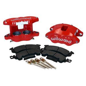 Wilwood D52 2.00/1.00 Front Caliper Kit Red Powdercoat 140-11291-R Pair w/ Pads