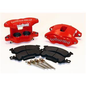 Wilwood D52 2.00/1.25 Front Caliper Kit Red Powdercoat 140-11290-R Pair w/ Pads