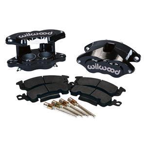 Wilwood D52 2.00/1.00 Front Caliper Kit Black Powdercoat 140-11291-BK Pr w/ Pads