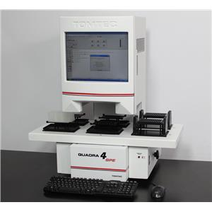 Tomtec Quadra 4 SPE Model 4000-205 Automated Liquid Handler with PC & Software