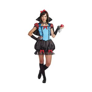 Gothic Fairytale Princess Juniors Snow White Costume Size Teen Medium 7-9