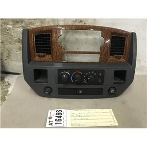 2006-2009 Dodge Ram 2500 3500 SLT grey dash bezel and heater controls at16466
