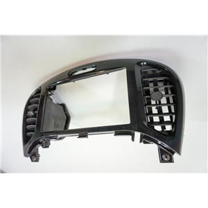 2011-2014 Nissan Juke Center Dash Radio Bezel  with 2 Vents, Plastic Gloss Black