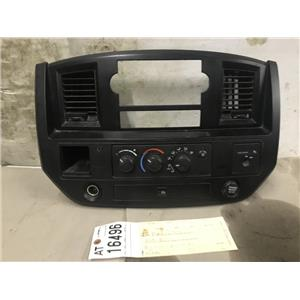 2006-2009 Dodge Ram 2500 3500 SLT black dash bezel and heater controls at16496