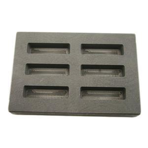 High Density Graphite KitKat Mold 1oz Gold Bar 1/2 Silver 6-Cavities Scrap