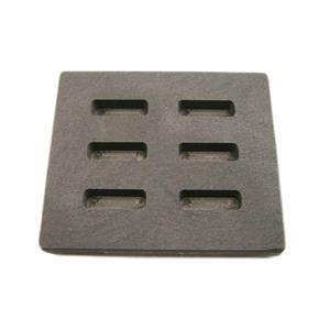 High Density Graphite KitKat Mold 1/4oz Gold Bar Silver 6-Cavities Scrap