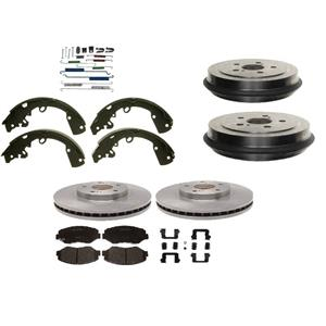 Brake Pad Rotor Shoe Drum plus Hardware Rear Kit fits 2006-2015 Toyota Yaris