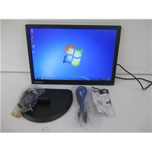 "Lenovo 60DFAAR1US 19.5"" ThinkVision E2054 WXGA 1440x900 LED Monitor VGA - Black"