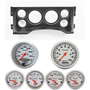 95-98 GM Truck Black Dash Carrier w/Auto Meter Ultra Lite Electric Gauges