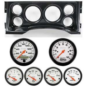 95-98 GM Truck Carbon Dash Carrier w/Auto Meter Phantom Electric Gauges