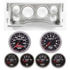 95-98 GM Truck Silver Dash Carrier w/Auto Meter Sport Comp II Gauges