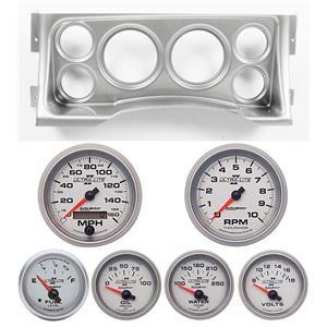95-98 GM Truck Silver Dash Carrier w/Auto Meter Ultra Lite II Gauges