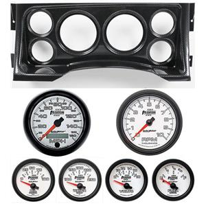 95-98 GM Truck Carbon Dash Carrier w/Auto Meter Phantom II Gauges